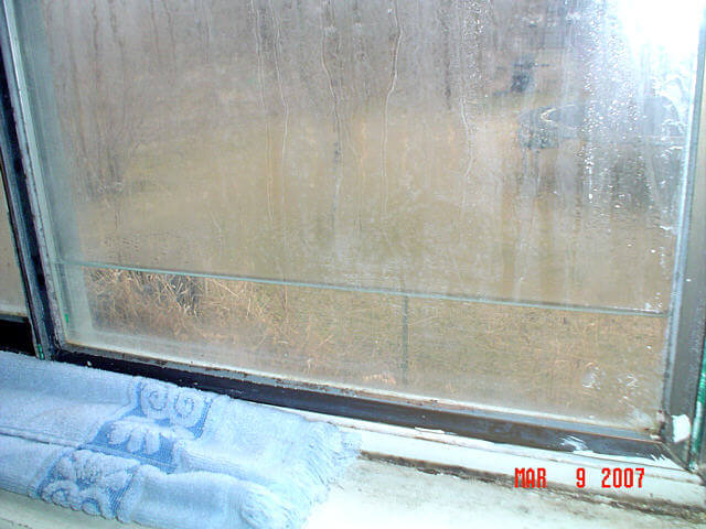 Photo broken thermal seal for Thermal windows reviews